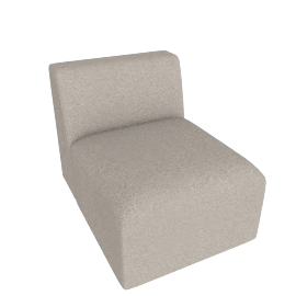 Juno modular - Single Seat, Manhattan Grey