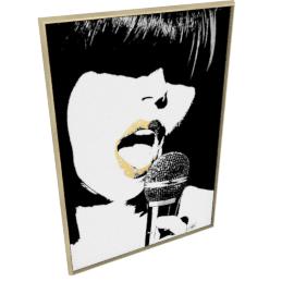 Glam Rock VI by KelliEllis - 54''x78'', Gold