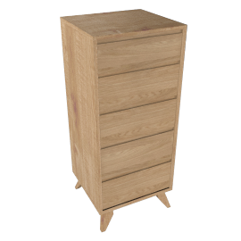 House by John Lewis Stride Tall 5 Drawer Chest