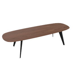 Solapa Slim Low Table, Walnut
