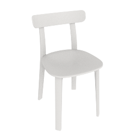 All Plastic Chair, White