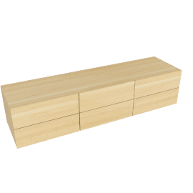Zola Five Drawer Dresser - Low - Blanched.Oak