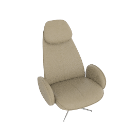 Imola High Leather Recliner Armchair, Light Grey