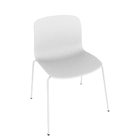 About A Chair 16 Side Chair, White / White