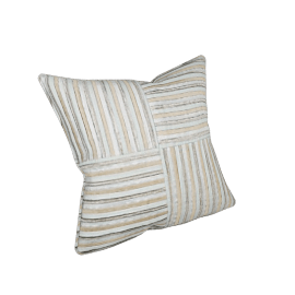 Square Stripe Cushion, Duck Egg