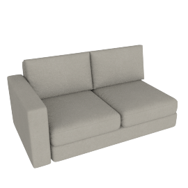 Eterno 2 Seater With Left Arm, Caramel