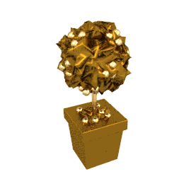 Gold Topiary Trees