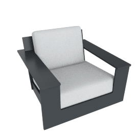 Nisswa Chair, Charcoal Grey
