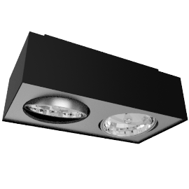 Lirio Bloq 2x50W, black