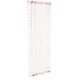 Benaras Sheer Curtain Pair - 135x240 cms, Orange