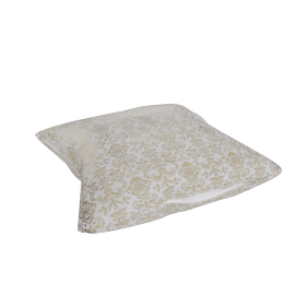 Moughal Floor Cushion - 60x60x14 cms, Multicolour