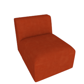 Juno modular - Single Seat, Flame Orange Velvet