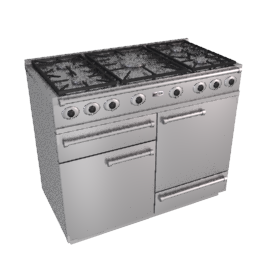 Falcon 1092 Dual Fuel Cooker, Stainless Steel / Chrome