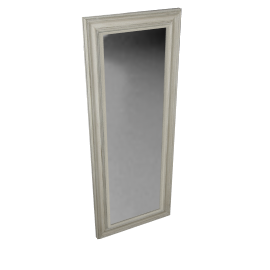John Lewis Distressed Mirror, Cream, 132 x 52cm