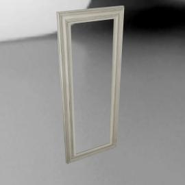 John Lewis Distressed Mirror, Cream, 132 x 52cm