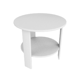 Lollygagger Side Table, White