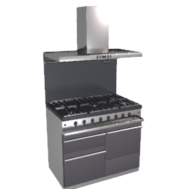 Westahl WG1053GECTANTAPK1 Dual Fuel Cooker, Hood and Splashback Package, Anthracite