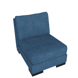 Signature 1 Seater Armless, Blue
