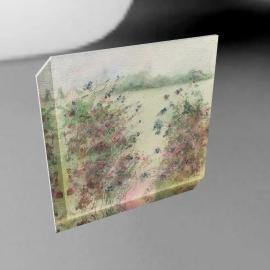 Sue Fenlon - Blackberry Picking Print on Canvas, 40 x 40cm