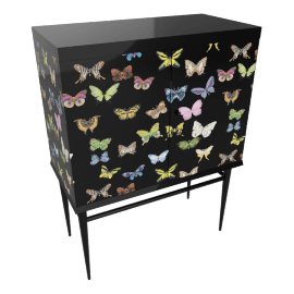 butterflies, raised small chest by fornasetti