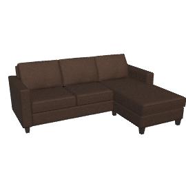Portia RHF Chaise End Sofa, Charcoal / Dark Leg