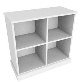 Charlie 4 Box Storage, White