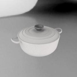 Le Creuset Round Casserole, White, 28cm