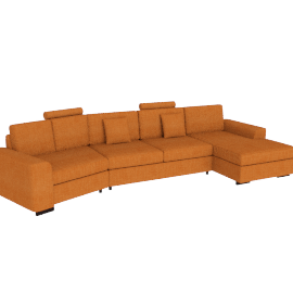 Askew Angle Corner Sofa Right