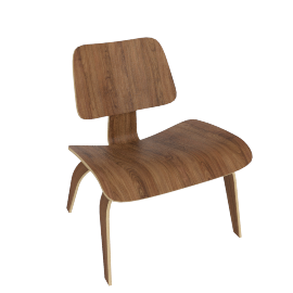 Eames Molded Plywood LCW, Walnut