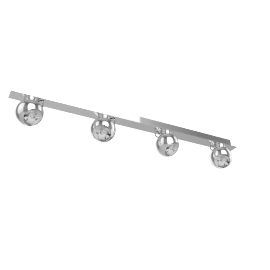 Maxim Eyeball LED Spotlight Bar, 4 Spot, Chrome