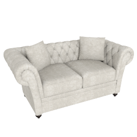Ascot 2-Seater Sofa, Gold
