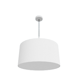 Pleat Drum Pendant, Light Grey