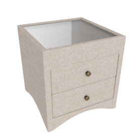 Stellar 2-Drawer Night Stand, Beige
