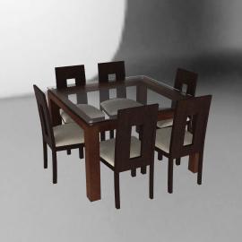 Basement Home Juego de comedor cuadrado 6 sillas Capri musa