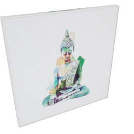 Enlightned Buddah Framed Painting - 60x4.8x60 cms
