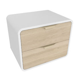 Heidi 2-Drawer Night Stand