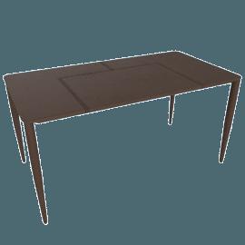 Bottega Leather Desk, Chocolate