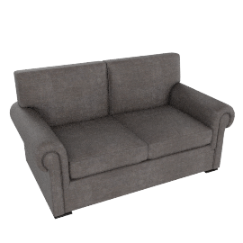 Romsey Medium Sofa, Pendle Woven Chenille Charcoal