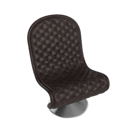 System 1 2 3 Lounge Chair by Verpan in Deluxe Leather - Dark.Brown