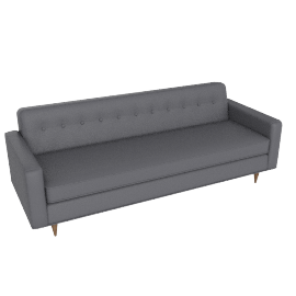 """Bantam 86"""" Sofa in leather, Mineral"""