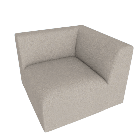 Juno modular - Corner End Seat, Manhattan Grey