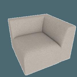 Juno modular - Corner End Seat, Manhattan Grey