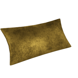 Metallic Leather Throw Pillow - Gold