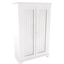 Downton 2 Door Wide Wardrobe, White