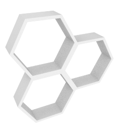 Honeycomb Cube Shelf, White