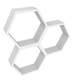 Honeycomb Cube Shelf, White