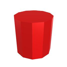 Moritz Side Table, Vibrant Red