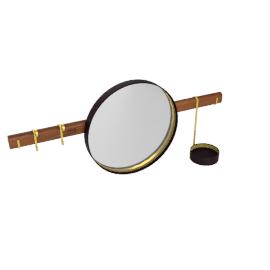 Ren - Wall mirror with Hangers, Testa di moro