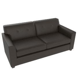 Zack Leather-look Sofa Bed, Brown
