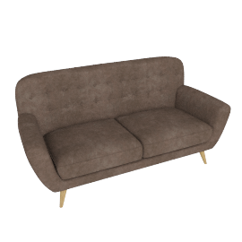 Retro Vibe 3 Seater, Dark Brown